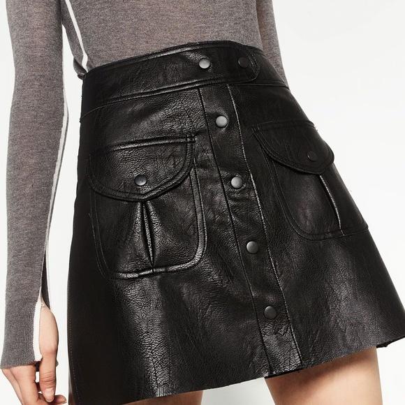 68a3ab18c6c72b Zara Faux Leather Button Front Mini Skirt. Zara.  M_5d040315e03aecf1487fc8a1. M_5d0403145feabbeb4a07f631.  M_5d0403142db55a8a3ba84363